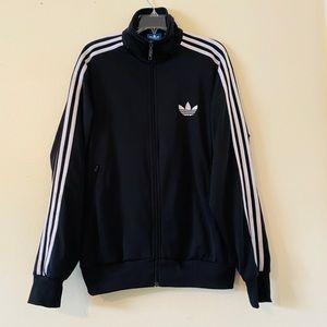 Adidas Trefoil 3 Stripes Track Jacket Black L